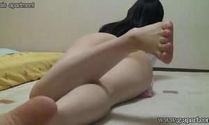 Peeping the japanese dirty slut wife yoga exercise