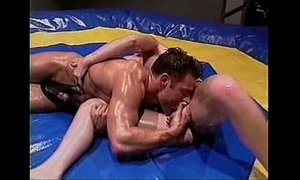 Baby-oil wrestling and screwing -- sexy!