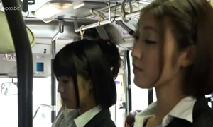 Asian lesbos in bus