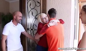 Naughty girlfriend sierra nicole opens her soaked cooze for boyfriends papa