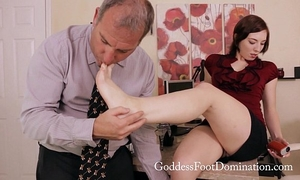 Corporate politics footjob foot fetish