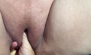 Husband fisting slutty wife sexy cum-hole