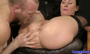 Glamcore british milf whore insane on pecker