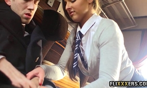 Fucking charming legal age teenager on the teach