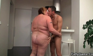 Bbw likes engulfing and fucking his rod