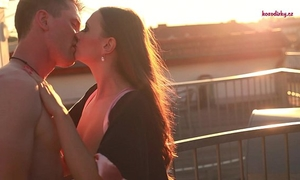 Porn valentine - rooftoop romance and romantic hardfucking