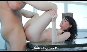 Hd - castingcouch-x hawt dirty slut wife heather night receives 1st creampie on camera