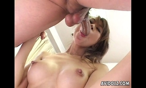 Japanese honey aki receives fingered close up uncensored