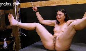 Crying slut whipped real fine