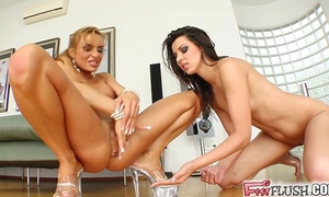 Greatest squirting lesbian babes ever filmed from consummate gonzo