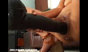 Petite thai dilettante gaped from a brutal vibrator insertion