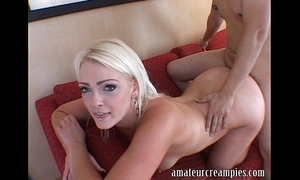 Zoey paige receives a unfathomable creampie on dilettante creampies