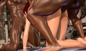 Interracial 3d orgy!
