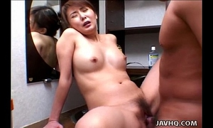 Precious oriental honey rides rod like crazy