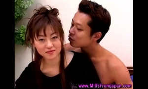 Asian milf white bitch getting it on