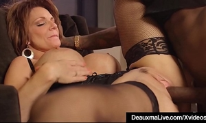 Hot aged cougar deauxma acquires fucked by a large dark dick!