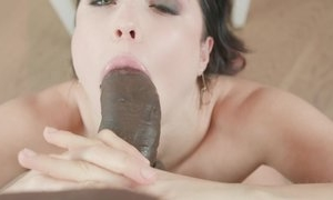 Teen has fun with big black cock in hot blowjob and hardcore sex acts