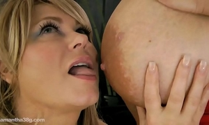 Maria moore and samantha 38g take up with the tongue every other