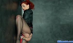 Bukkake redhead widens cookie at gloryhole