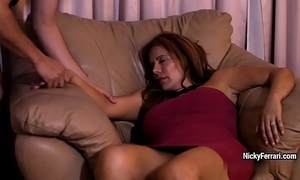 Juicy aged redhead is having a surprise during the time that this babe sleeping