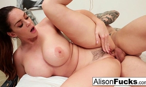 Alison tyler acquires cum on her melons